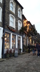 Haworth by fading Christmas light