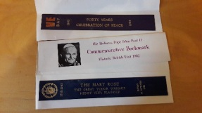 Commemoration bookmarks